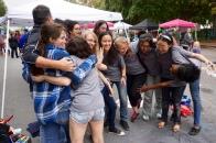 Group hug! Featured: Olivia Jarbeau (12), Alexandria Nause (alumni), Bob Petersen (Upper School art teacher), Savannah Wakfield (alumni), Ali Manning (11), Ellen Roberts (11), Anna Sun (10), Isabel Schmieta (11), Peggy Zhao (10), Annie Huang (12), Danielle Lancaster (12)