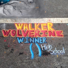Walker wins high school competition at Chalktoberfest 2015!