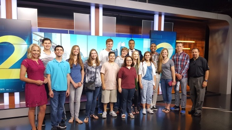 Walker Juniors with anchor Fred Blankenship and Meteorologist Katie Walls.