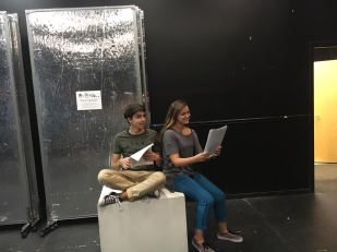 Dylan Alfi and Katrina Horowitz read lines before their audition