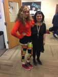 Kayla Bloom (11th) in the 1980s and chorus teacher Mrs. Walker as a flapper
